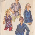 SIMPLICITY PATTERN 8711 SIZE 14 MISSES' SHIRT 2 VARIATIONS SEE MATCHING MEN'S