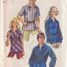 SIMPLICITY PATTERN 8711 SIZE 34/36 MEN'S SHIRT 2 VARIATIONS SEE MATCHING MISSES'