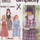 SIMPLICITY PATTERN 9153 GIRLS' SIZE 12,14 JUMPER IN 4 VARIATIONS UNCUT