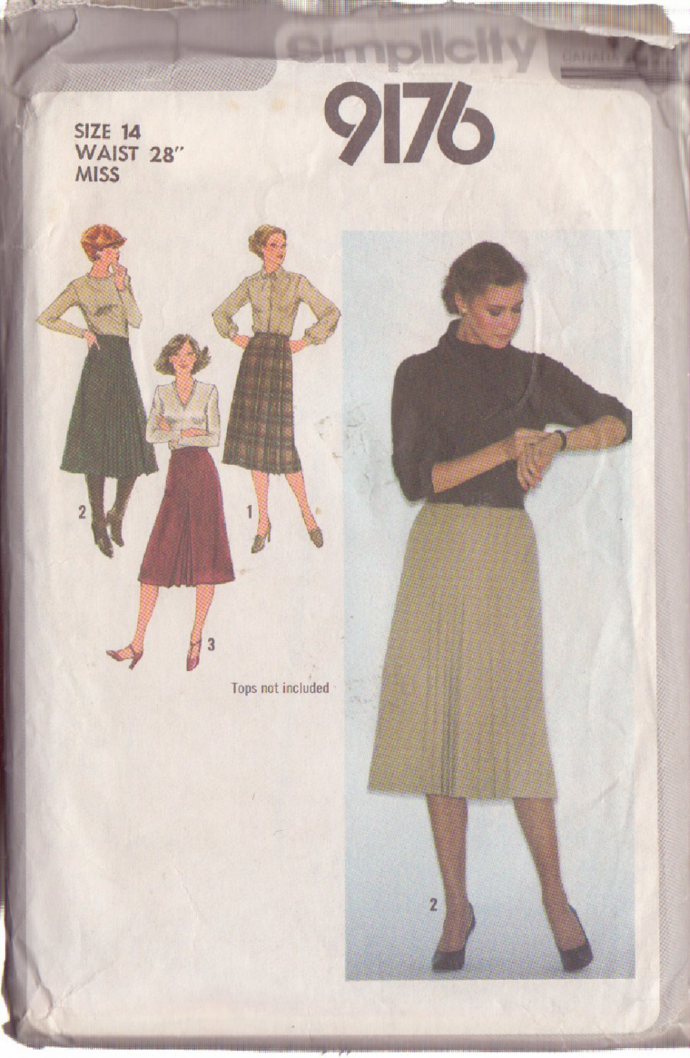 SIMPLICITY PATTERN 9176 SIZE 14  MISSES' SKIRTS IN 3 VARIATIONS