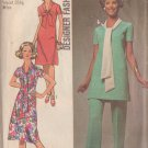 SIMPLICITY PATTERN 9262 SIZE 12 MISSES' DRESS OR TUNIC AND PANTS