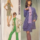 SIMPLICITY VINTAGE 1970 PATTERN 8870 SIZE 14 MINI SKIRT, PANTS, OVERBLOUSE JACKET