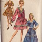 SIMPLICITY VINTAGE 1970 PATTERN 8875 SIZE 14 COLONIAL OR SQUARE DANCE DRESS WAIST CINCHER