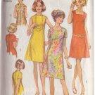 SIMPLICITY VINTAGE 1970 PATTERN 8882 SIZE 44 DRESS 3 NECKLINES