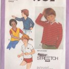 SIMPLICITY PATTERN 9302 SIZES 3-4-5  CHILD' S PULLOVER TOP FOR STRETCH KNITS