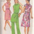 SIMPLICITY VINTAGE 1971 PATTERN 9329 SIZE 20 ½  MISSES' DRESS,TUNIC, PANTS