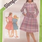 SIMPLICITY VINTAGE 1981 PATTERN 9986 SIZES 7 & 8 CHILD'S PULLOVER DRESS