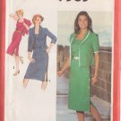 SIMPLICITY PATTERN 9383 SZ 40 MISSES' SIDE-BUTTON DRESS AND UNLINED JACKET