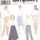 SIMPLICITY PATTERN 9589 SIZE 8/10/12 MISSES' PANTS & SKIRTS