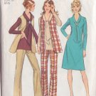 SIMPLICITY VINTAGE 1971 PATTERN 9621 SIZE 14 MISSES' DRESS, TUNIC, VEST, PANTS