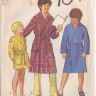 SIMPLICITY VINTAGE 1971 PATTERN 9635 SIZE 12 BOY'S ROBE