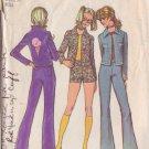SIMPLICITY VINTAGE 1971 PATTERN 9648 SIZE 10 MISSES' BELL BOTTOM PANTS, SHORTS, JACKET