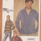 SIMPLICITY VINTAGE 1980 PATTERN 9739 SIZE 42/44/46 MEN'S PULLOVER SHIRT