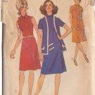 SIMPLICITY VINTAGE 1971 PATTERN 9806 SIZE 12 MISSES' DRESS & CARDIGAN