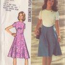 SIMPLICITY VINTAGE 1972 PATTERN 9912 SIZE 12 MISSES' DESIGNER DRESS