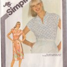 SIMPLICITY VINTAGE 1981 PATTERN 9917 SIZE 14 MISSES' PULLOVER DRESS OR TOP