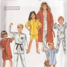 SIMPLICITY 1990 PATTERN 9942 SIZE SMALL SZ 3 CHILD'S PAJAMAS, NIGHTSHIRT & ROBE