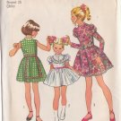 SIMPLICITY VINTAGE 1972 PATTERN 9952 SIZE 6 GIRLS' DRESS WITH SLEEVE INTEREST