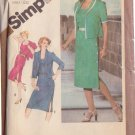 SIMPLICITY VINTAGE 1981 PATTERN 9948 SIZE 18 1/2 MISSES' SIDE BUTTON DRESS & JACKET