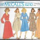 McCALL'S PTRN 6209 SZ 14.5/16.5/18.5 MISSES' DRESS 2 LENGTHS 5 VARIATIONS