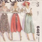 McCALL'S PATTERN 6467 SIZE 12/14 MISSES' SET OF 3 SKIRTS
