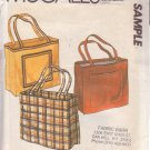 McCALL'S 1980 PATTERN FOR MAKING TOTE BAGS UNCUT
