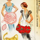 McCALL'S 1952 PATTERN FOR MAKING APRONS 3 STYLES