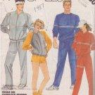 McCALL'S VINTAGE 1985 PATTERN 2080 SIZE LG 40/42 UNISEX SWEAT SUIT