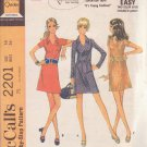 McCALL'S VINTAGE 1969 PATTERN 2201 SIZE 14 MISSES' DRESS IN 3 VERSIONS
