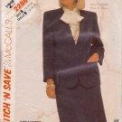 McCALL'S VINTAGE 1985 PATTERN 2288 SIZEs 12/14/16 MISSES' JACKET & SKIRT