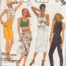 McCALL'S VINTAGE 1986 PATTERN 2458 SIZE 14 MISSES' TOP SKIRT PANTS