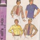 McCALL'S 3439 DATED 1972 Men's shirt wardrobe SIZE 40 SHIRT  15 1/2 Neck