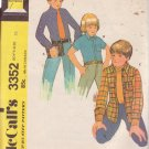 McCALL'S 3352 DATED 1972 BOY'S SIZE 10 SHIRT OR SHIRT JACKET