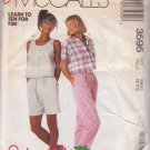 McCALL'S PATTERN 3595 DATED 1988 SIZE small 10/12 MISSES TOPS PANTS SHORTS