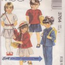 McCALL'S PATTERN 3764 DATED 1988 SIZE 5 GIRL'S JACKET, TOP, SKIRT & PANTS
