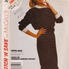 McCALL'S PATTERN 3864 DATED 1988 SIZES XS & SM MISSES DRESS UNCUT