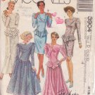 McCALL'S PATTERN 3904 DATED 1988 SIZES 6/8/10 MISSES GOWN OR DRESS UNCUT
