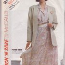 McCALL'S PATTERN 4211 DATED 1989 SIZE 8/10/12 MISSES JACKET & DRESS UNCUT