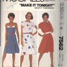 McCALL'S PATTERN 7562 DATED 1981 SIZE 14 MISSES DRESS 3 VARIATIONS UNCUT