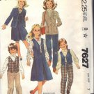 McCALL'S PATTERN 7627 DATED 1981 SIZE 7 GIRL'S BLAZER VEST SKIRT PANTS UNCUT