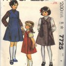 McCALL'S PATTERN 7725 DATED 1981 SIZE 8 GIRL'S JUMPER & BLOUSE UNCUT