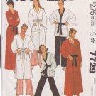 McCALL'S PATTERN 7729 DATED 1981 SIZE MEDIUM 36/38 UNISEX ROBE JACKET PANTS