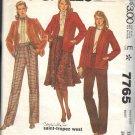 McCALL'S PATTERN 7765 DATED 1981 SIZE 12 MISSES' JACKET SKIRT PANTS UNCUT
