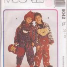 McCALL'S PATTERN 9042 DATED 1997 SIZE 1/2/3 UNISEX JACKET OVERALL TOP HAT BLANKET ROLL