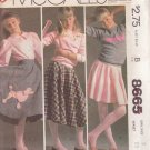 McCALL'S PATTERN 8665 DATED 1983 SIZE 7 GIRLS' POODLE SKIRT & APPLIQUE