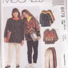 McCALL'S PATTERN 8479 DATED 1996 SIZE 12/14 GIRLS' TOPS & PULL-ON PANTS UNCUT