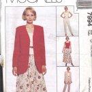 McCall's Pattern 7994 dated 1995 sz 12/14/16 Misses' Vest Jacket pants skirt UNCUT