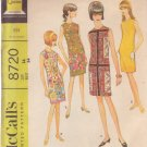 McCall's Pattern 8720 dated 1967 size 14 Misses' Dress 4 Versions UNCUT