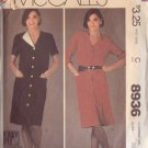 McCALL'S 1984 VINTAGE PATTERN 8936 SZ 20 MISSES' DRESS 2 VERSIONS