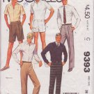 McCALL'S VINTAGE 1985 PATTERN 9393 SIZE 36 MEN'S PANTS AND SHORTS